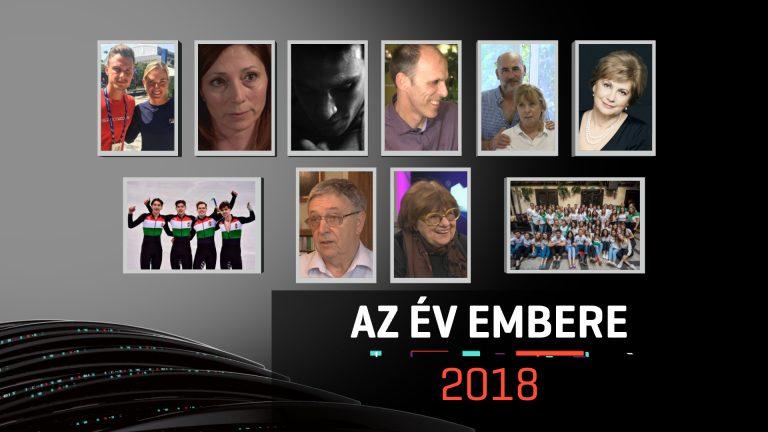 Az RTL tévécsatorna, év embere szavazás plakátja szerepel a képen, 10 jelölt profilképével. Köztük szerepel Kurucsai Szabolcs.